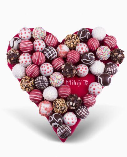 Bonbonové srdce k Valentýnu Frutiko